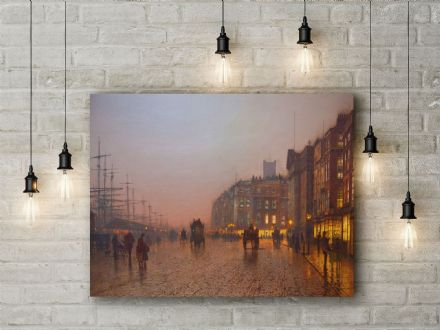 John Atkinson Grimshaw: Liverpool Docks from Wapping. Fine Art Canvas.